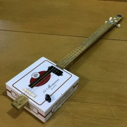 Stlouis Cigarbox Guitar 3 Strings Flor de Copan