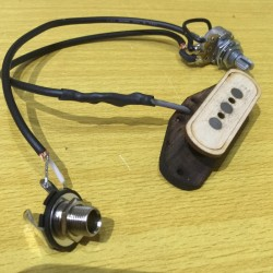 Pre-wired jack + volume vintage single coil pickup