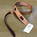 Leather Strap Guitar 2 colors natural mahogany