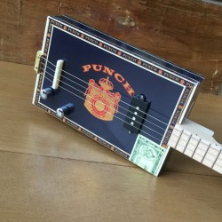 Cigar box  guitar 4 cordes StLouis Punch micro 4 plots