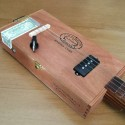 Stlouis Cigar box Guitar Partagas 4 string pickup 4 poles