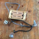 Pre-wired jack and volume  double 4 poles single coil pickup