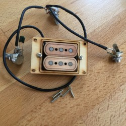 Pre-wired jack and volume  double 3 poles single coil pickup