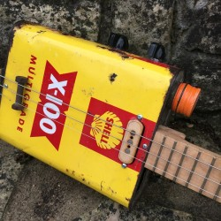 Motor Oil Can Guitar 3 string