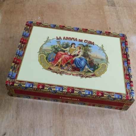 Cigar box La Aroma de Cuba Churchill