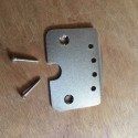 Tailpiece for cigarbox guitar 4 strings