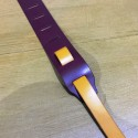 Leather Strap Guitar 2 colors Prune Yellow